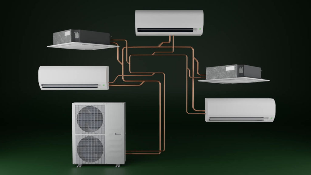 Klimatyzator multisplit – schemat